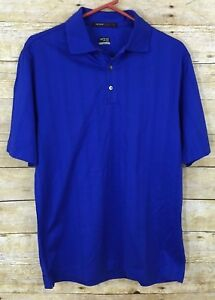 Nike Tiger Woods Collection Men's Fit Dry Small Blue Short Sleeve Polo Shirt
