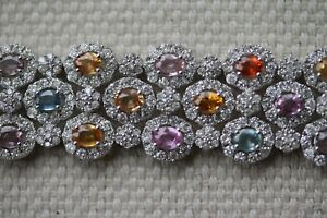 DESIGNER DIAMOND AND GEM BRACELET