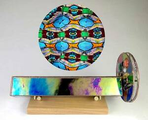 Lori Riley Early Stained Glass Two Wheel Handheld Kaleidoscope