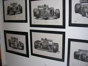FORMULA ONE CARS LIMITED EDITION LITHOGRAPHS SIGNED BY DRIVERS AND ARTIST