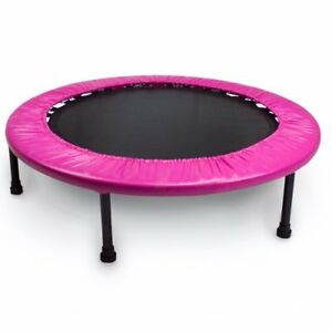 NEW Crown Sporting Goods Mini Rebounder Trampoline Pink 38 Inch FREE SHIPPING
