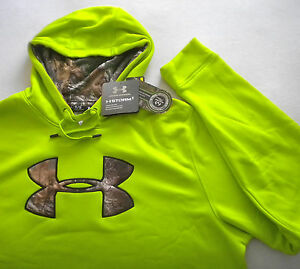 NWT $70 Men's UNDER ARMOUR Cold Gear STORM 1 Real Tree Camo HOODIE Big XLT Tall