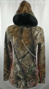 Under Armour Womens Hoodie Camo ColdGear Infrared Scent Control Sz S MSRP $89.99