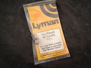 LYMAN 450 LUBRICATOR SIZE 402 CAST LEAD BULLET LUBE SIZER TOP PUNCH ALSO 4 RCBS