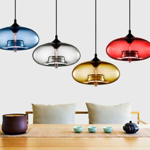 Modern Glass Pendant Colored Hanging Ceiling Light Island Chandelier Lamp $28.99