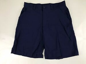 Mens Under Armour Golf Shorts Size 34 Dark Blue Active Casual heat gear
