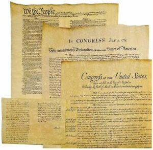 Declaration of Independence Bill of Rights and Constitution and Gettysburg $11.98
