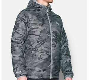 UNDER ARMOUR ColdGear REACTOR Digital CAMO Storm2 JACKET wHood _LG_ Packable