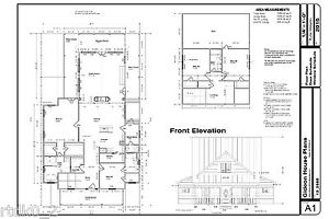 Custom Home House Plan 2585 SF CAD DWG and PDF of Plans