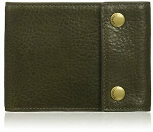 Fossil Men's Ethan Leather Rfid Blocking Snap Bifold Wallet New