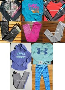 UNDER ARMOUR GIRLS SIZE 5 ~ HOODIES ~ LEGGINGS ~ TOPS ~ NWT ~ $288 ~ 10 Pieces