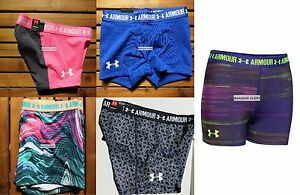 UNDER ARMOUR GIRLS MEDIUM FITTED GYMNASTIC DANCE SHORTS ~ 5 PAIRS ~ $125