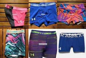 UNDER ARMOUR 6 pairs ~ SIZE SMALL ~ FITTED SHORTS GYMNASTICS DANCE ~ NEW