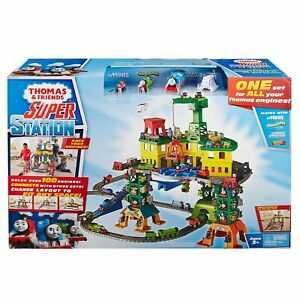 Fisher-Price Thomas & Friends Super Station Playset Train Track Huge Fun Gift