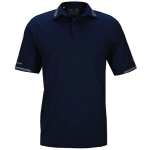 NEW UNDER ARMOUR COLDBLACK TIPPING GOLF POLO ACADEMYGRAPHITE LARGE