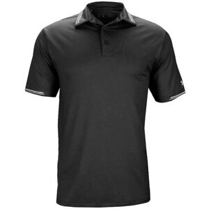 NEW UNDER ARMOUR COLDBLACK TIPPING GOLF POLO BLACKGRAPHITE MEDIUM