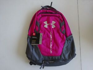 Under Armour Hustle 3.0 Backpack Tropic PinkGraphite NWT