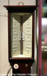 Antique English Marine Barometer Sympiesometer - Wolf Liverpool