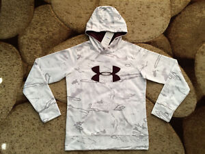 Under Armour Womens Coldgear Hoodie White Gray Camo Small NWT MSRP $74.99