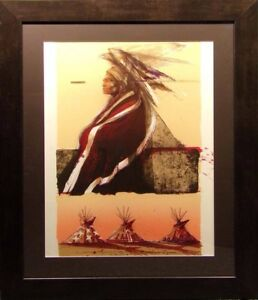 Larry Fodor quot;Dusty Starquot; Lithograph with custom frame Hand Signed Make an Offer $1400.00