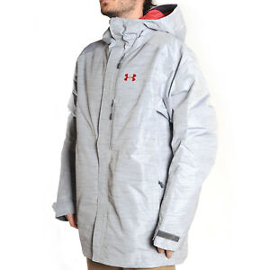 Under Armour 2018 Cold Gear Infrared Storm Timbr (Overcast GreyRed) Men's Sn...
