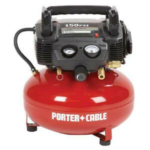 Porter-Cable 0.8 HP 6 Gal. Oil-Free Pancake Air Compressor C2002 Recon