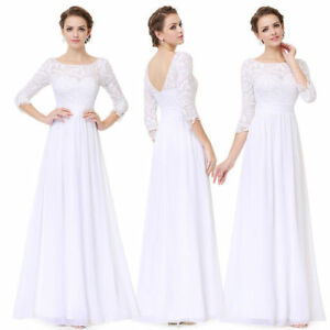 US Lace Dress Women Formal Gown Evening Party Cocktail Bridesmaid Dresses 08412