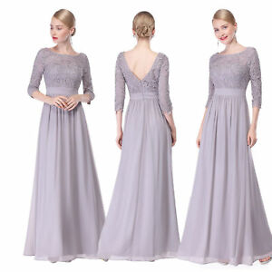 US Long Women Lace Dresses Formal Party Evening Dress Cocktail Prom Gown 08412