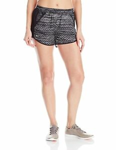 Under Armour Womens Fly-By Printed Run Short BlackReflective Small