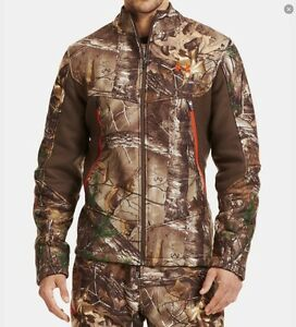 Under Armour Men's Ayton Fleece Camo Jacket and Bib-XL