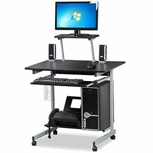 go2buy Small Spaces Computer Desk with Keyboard Tray Drawer and Printer Shelv...