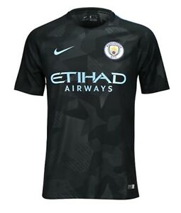 Nike 1718 Manchester City Away 3RD SS Shirts Black Soccer Jersey 844259-333