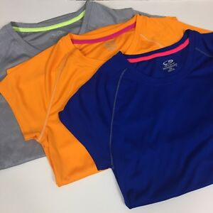 Lot Of 3 Champion Athletic Shirts Size Medium Womens