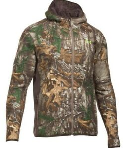 Under Armour Mens Stealth Camo Fleece Jacket XL and Bib Size-L