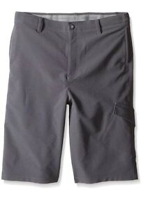 Under Armour Boys Match Play Cargo Graphite Gray Golf Shorts Youth X-Large