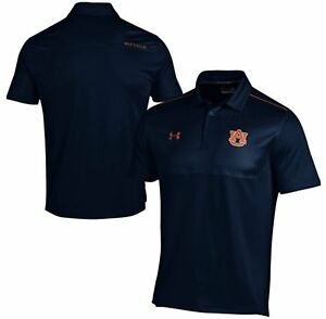 Auburn Tigers Under Armour L Loose Fit Performance Navy Sideline Polo Shirt