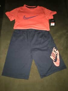 nike sb shorts and dry fit tee shirt kids large ( new with tags)
