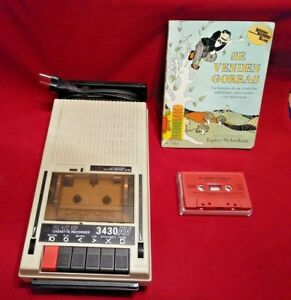 Vintage Califone 3430AV Cassette Recorder W Se Venden Gorras book and tape