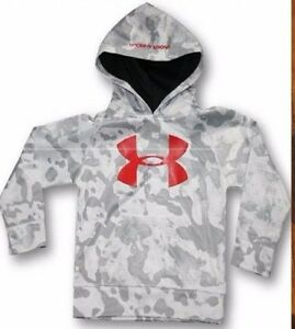 UNDER ARMOUR BOYS YOUTH SIZE 6 ~ HOODIE SWEATSHIRT ~ GRAY CAMOUFLAGE ~ NEW