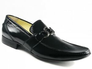 Men's Slip-on Dress Shoes by Brumas Italian Designer 70162 Black