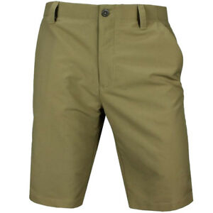 NEW UNDER ARMOUR MATCH PLAY GOLF SHORTS CANVAS 34
