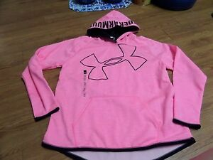 bnwt girls  under armour storm 1 hoodie-size yxl-pink-water resistant-$49.99