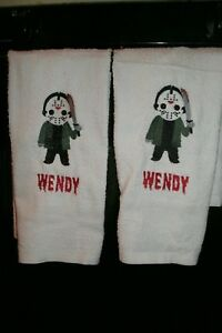 Jason Horror Personalized Dish Kitchen Hand Towels ANY COLOR