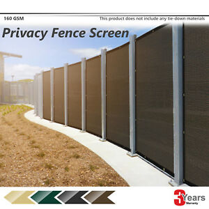 Brown 4'-8' Tall Feet Privacy Fence Screen Outdoor Park Construction Mesh Cover