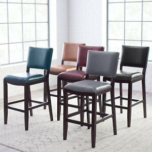 Leather Bar Stool With Back 29