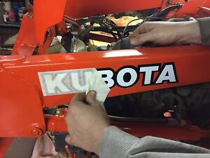 KUBOTA L BX B series TRACTOR VINYL DECAL STICKER -WHITE w/ black  - 12