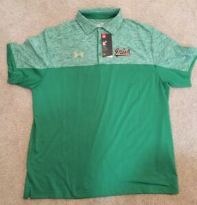 NWT UNDER ARMOUR NOTRE DAME FOOTBALL TEAM ISSUED LARGE POLO SHIRT