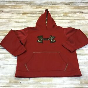 UNDER ARMOUR STORM ~YOUTH  XL ~ HOODIE HOODED PULLOVER SWEATSHIRT ~ RED CAMO