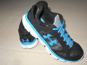 Boy's Under Armour Micro G Assert Running Shoes Youth Size 7 BlackBlue
