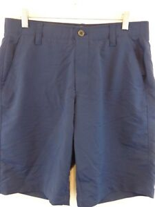 UNDER ARMOUR Men Heat Gear Golf Athletic Shorts 34 X 10 Navy New Without Tags